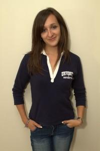 Sarah Haynes wearing a Southampton University Top